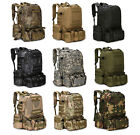 55L Molle Outside Military Tactical Bag Camping Hiking Trekking Backpack