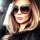 Cat Eye Oversized Fashion Style Women Sunglasses Gradient Lens Oval Frame