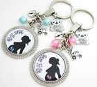 S.KEYRING - Mum To Be feet Silhouette,Boy,Girl, New baby, pregnancy, baby shower