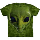Big GREEN ALIEN FACE The Mountain Space UFO Head T-Shirt S-3XL NEW