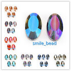 Flat Oval Faceted Glass Crystal Beads Spacer Finding 22x13mm Charms DIY Jewelry