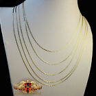 """SOLID 10K YELLOW WHITE ROSE GOLD VALENTINO TRI COLOR NECKLACE CHAIN 16-24""""/ 1 MM"""