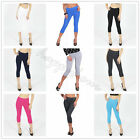 Cotton Leggings 3/4 Length Shorts Active Sport Dance Cycling All Sizes and Color