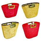 STRAW STUDIO'S LARGE STRAW WOVEN TOTE BAGS IN 2 DIFFERENT COLOURS BRAND NEW