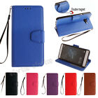 Fashion Flip Hybrid Stand PU Leather Card Pocket Cover TPU Case For Phone HF