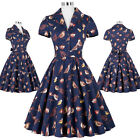 Vintage Style 50s 60s Pin Up Cocktail Party Evening Retro Swing JIVE Dance Dress