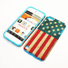 For Apple iPod Touch 5th Gen Hybrid 2-in-1 Cover Case United States Flag
