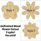 Внешний вид - Unfinished Wood Flower Door Hanger Laser Cutout, Home Decor, Various Options