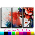 Abstract Woman Treble Canvas Wall Art Picture Print 1 Gallery Grade