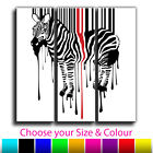 Abstract Zebra Stripes Treble Canvas Wall Art Picture Print 2 Gallery Grade