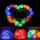Rose Flower Fairy String Lights Lamp, 20LED Garden Decor Christmas Wedding Rose