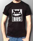 Totoro Cat Bus Anime Ghibli Tribute T-Shirt Mens Black