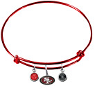 San Francisco 49ers Football Wire Bangle Charm Bracelet Crystal PICK YOUR COLOR