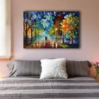Romantic Night Stretched Canvas Prints Wall Art Home Decor Framed Painting V