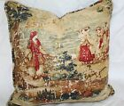 Covington Bosporus Pastoral Toile PILLOW Antique Red Flax Billiard CHOOSE COLOR $51.99 USD on eBay
