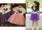 New Girls Toddler Kids Tutu Mickey Minnie Princess Birthday Party Summer Dress