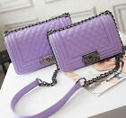 Ladies Luxury PU Leather Handbag Chain Shoulder Bag Plaid Women Crossbody Bag