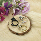 Cute Adjustable Ring Jewelry Labrador Puppy Dog Animal Wrap Ring 3 Colors