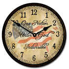 """Large wall One Nation Under God Clock 10""""- 48"""" Whisper Quiet, Non-Ticking"""