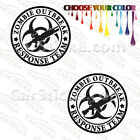 "2 x 5"" Zombie Outbreak - M4A1 Aries Grenade Launcher car vinyl sticker decal"
