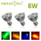 3pcs 6W PAR20 LED Spotlight Blue/Orange/Yellow/ Purple Color Lighting Spot Bulbs
