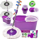 SUPER SPIN MOPS 360° SPINNING MOP BUCKET HOME CLEANING WITH 2 TO 4 MOP HEADS