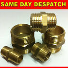 BRASS SCREWED NIPPLE BSP THREAD VARIOUS SIZES NEW