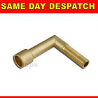 "Brass Backnee Elbow 1/4"" BSP Male Thread Long or Short New"
