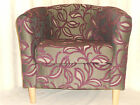 TUB CHAIR AUBERGINE PATIO LEAF. DISPATCHED NEXT DAY AUBERGINE (DELIVERY FREE)