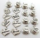 Wedding Role Heart & Hat charm/s,choose roles,bride,groom,bestman,gift,card