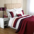 Chevron Double Duvet Set a Contemporary and Modern look & feel Plum/Cream/White