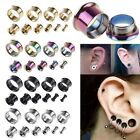 Stainless Steel Flared Ear Plugs Hollow Expander Stretcher Piercing