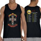 Guns and Roses tour Spring 2016 2'side Men's Tank Top Shirt In Size S to 2XL