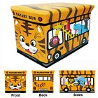 Global Decor Toy-Stor Safari Bus Children's Storage Container/Stool