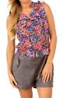 NWT Women Pull-on Style Belted Romper with Pockets Chiffon Top FREE Shipping!