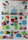 NEW  Christmas  Holiday Window Gel Clings Reuseable Choose from 8 Designs