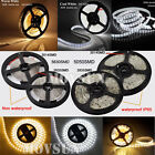 16.4ft DC12V/24V 5M 2835/5050/3014/5630 300/600/1200LEDs Flexible Strip Light