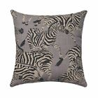 Zebra Throw Pillow, Waverly Herd Together Ore Gray Zebra Decorative Throw Pillow