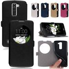 Flip Leather Case Cover Slim Stand Window View Stand For LG K7