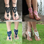 Lovely Barefoot Sandals Crochet Foot Jewelry Anklet Bracelet Wedding Ankle Chain