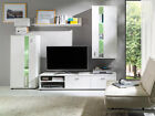 Modern Living Room Furniture Set TV Units Entertainment Stands Cabinet White Led