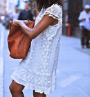Sexy Ladies Womens Summer Beach Dress Sleeveless Lace Evening Party White Loose