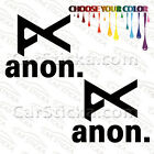 "2 of 5"" Anon Goggles /A snowboard skate car truck window bumper stickers decals"