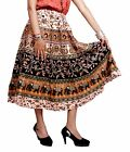 A Beautiful Hippie Boho Gypsy Tribal Batik Cotton Elastic Waist Skirt