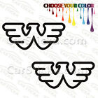 "2 of 5"" to 20"" Waylon Jennings Flying W /A artist car wall stickers decals"