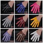 1 Pair Woman's Lady's PU Leather Half Palm Gloves / Fingers Gloves 18 Color