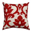 Red and Cream Pillow, Basalto Cherry Red Floral Outdoor Decorative Throw Pillow