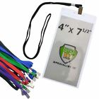 10 Pack - 4x7 Pit Pass / Extra Large Ticket Holders with Lanyards (4 X 7 Badges)