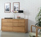 Tobias 8 Drawer Timber Chest / Cabinet - Solid Oak Wood - 150x45x76cm
