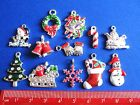CHRISTMAS Silver Plated & Enamel Pendants & Charms ~ Jewellery Making Crafts